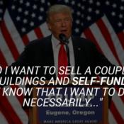Trump doesn't self fund